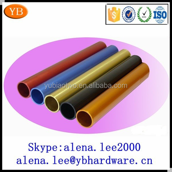 Color anodized aluminum pipe 6065 t5 t6 with hole ISO9001/TS16949