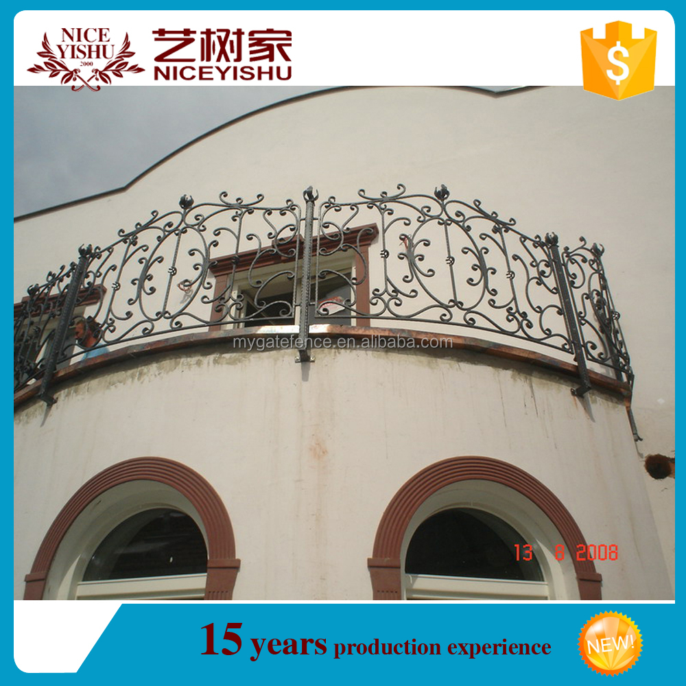 Italian style exterior new design modern wrought iron terrace railing designs/luxury ornamental aluminum balcony balustrade