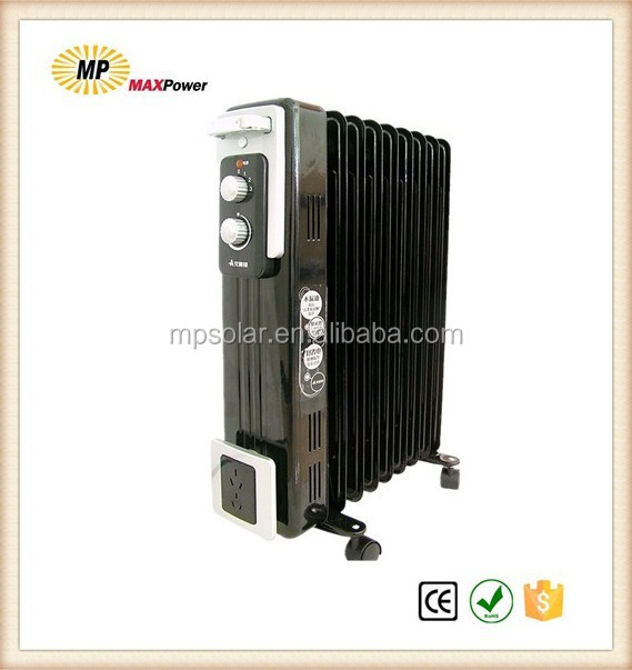 High Quality Portable Oil filled radiator heater 2/3 heat setting