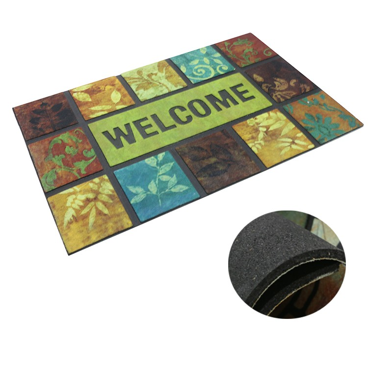 Welcome Home Anti-sliding flocking rubber door mats