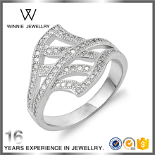 925 Sterling Silver Ring Female Sweet Ring Open Leaves Index Finger Ring-RC0807323957