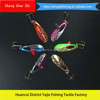 New Mini Metal Fishing Spoon Lures For Ice Fishing