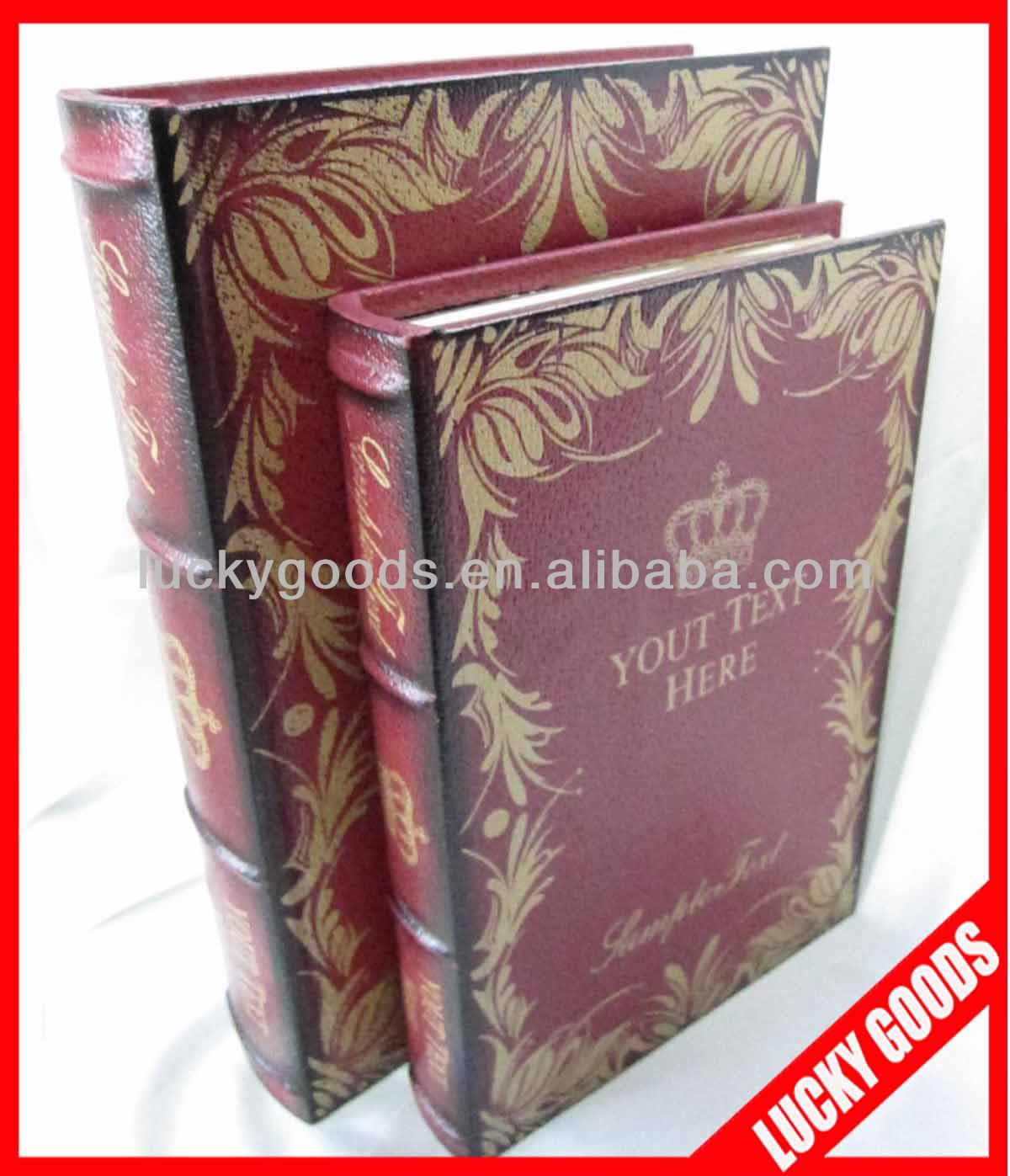 decorative printed antique books