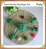 2017 most popular durable rope dog toy with high quality for christmas holilday gift