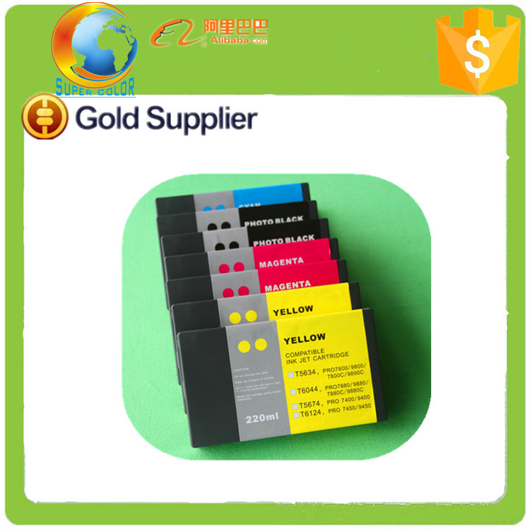 1:1 Replacement good quality compatible ink cartridge for Epson Stylus Pro 7450 9450 220ml compatible ink cartridge