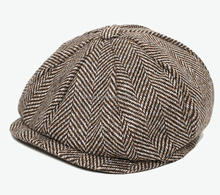 Grey Black Herringbone Tweed Gatsby Newsboy Cap Men Pure Khaki Wool Ivy Hat Golf Driving Flat Cabbie Flat Unisex Berets Hat