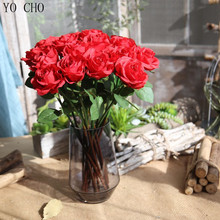 YO CHO Birthday Day Party Supplies Home Decoration Fake Flower Artificial Bouquet Making Preserved Rose Petals Flower