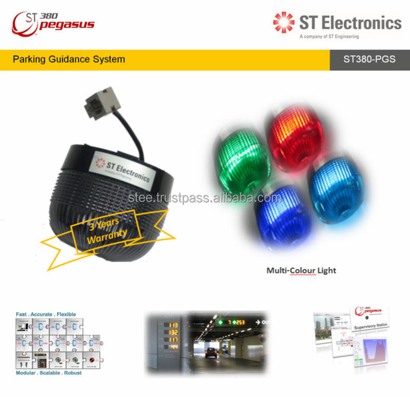 Multi Colour LED Indicator Light for Parking Guidance System (PGS) - ST380 Pegasus, Singapore