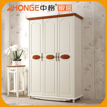 High Quality Self Assembly On The Corner Wood Furniture Wardrobe