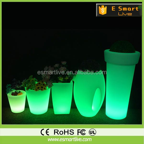 Shengjia SJ-PJS-A003 LED Bonsai TREE stylish plant and tree nursery polyp ropylene led flower pots acrylic xmas ornament
