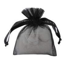 Boutibox BB-T40 Yiwu Organza fabric sachets ribbon printing drawstring pouch bag for jewelry and make up