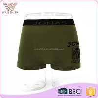 High waist custom colors promotion young men seamless printed underwear