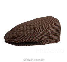 Checked Waterproof newsboy hat