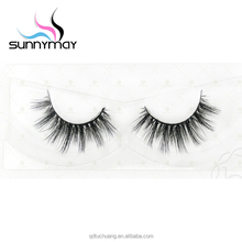 Cruelty free clear invisible band faux mink fur false eyelashes 3d mink private label beauty lashes 3d mink strip eyelashes