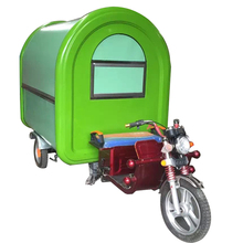 Tricycle pizza food cart mobile pastry fast sanck food trucks trailer
