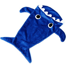 100% Handmade all kids love winter warmth soft touch shark snuggle blanket