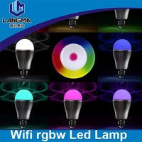 Langma cristmas decoration colorful brightness adjustable remote control disco bulb light full color rgw led auto rotating lamp