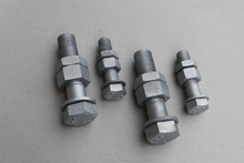 High tensible bolts manufacturer DIN931/ISO4016/DIN7990 transmission line hot dip galvanized M24 hex bolts nuts 8.8