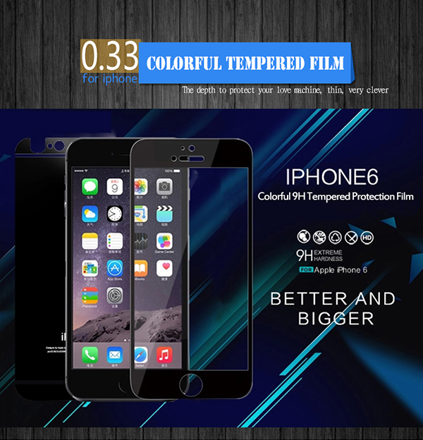 Full Cover Color Titanium Alloy Film Guard For Iphone 6 6 Plus Tempered Glass Screen Protectors,For Iphone6 Phone Accessories