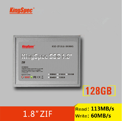 "KingSpec 1.8"" ZIF 128GB MLC SSD (KSD-ZF18.6-128MS) SSD FOR MacBook Air 1st Generation Rev.A1237"