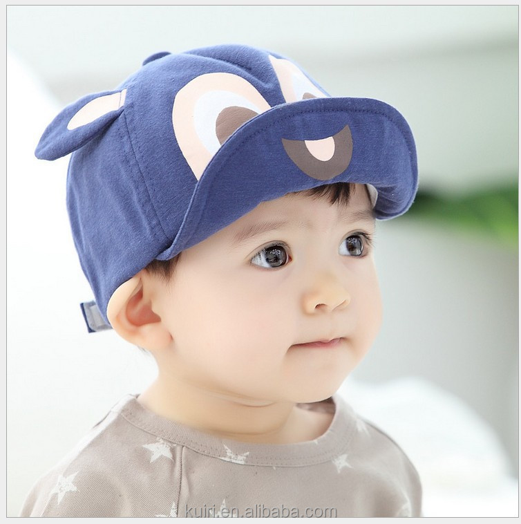 Summer Cotton Baby Hats Cute Casual Striped Soft Eaves Baseball Cap Baby Boy Beret Baby Girls Sun Hat mz-73