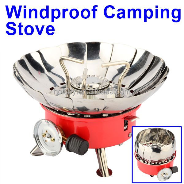 Facebook remmended dropshipping supporting Portable Windproof Outdoor Camping gas stove, Gas burner stove