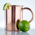 BPA FREE Solid Copper Mugs Moscow Mule Mug with No Inner Linings,100% Copper Mug for Moscow Mule,polished Pure Copper mug 16oz