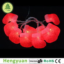 LED Red Socks Christmas Decoration Light battery operated lights