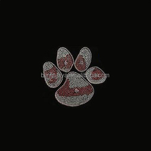 Hotfix Rhinestone Pawprint Motif Iron On Transfers For T-shirts