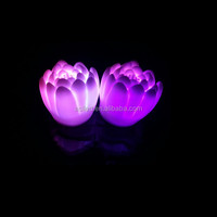colors changing water active lighting led dmx moon flower light