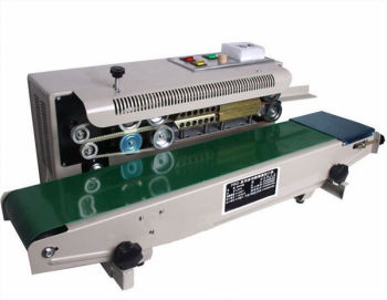 Continuous sealing machine for plastic bags, band sealer, packing machine