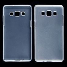 Mobile phone case gloosy transparent TPU case for Samsung galaxy A5