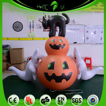 Halloween Crazy Decoration Inflatable Pumpkin, Ghost, Black Cat Model, Festival Halloween Scary Inflatables