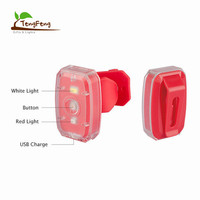 2 in 1 Multifunction 2 SMD Led Mini Bike Headlight USB Rechargeable Bicycle Front Light for Handle bar Use
