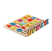 children toys new 2016 style Educational Wooden Alphabet puzzle for kids
