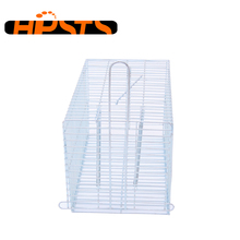 Collapsible galvanized steel wire rat trap cage for rodent animal