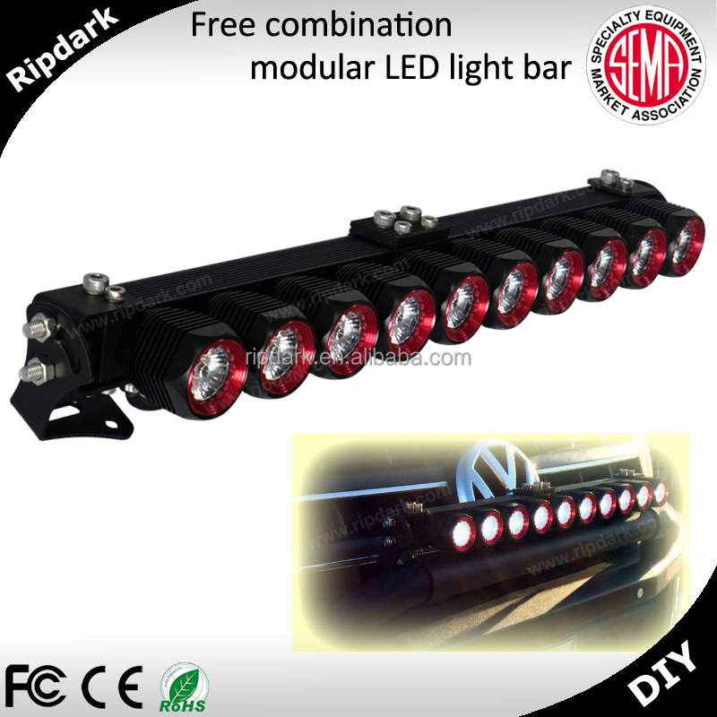 Buy direct from china factory, Ripdark patented product high quality DIY 4D led bar for car for Canada market