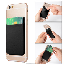 Stick-on Card Wallet Smart Phone Use Credit Card Holder RFID Blocking Card Cover Women/Men Brand Quality Bill Holder
