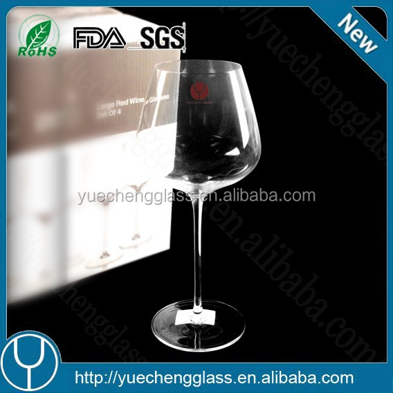 Wholesale high quality large clear fancy drinking bohemia crystal wine glass