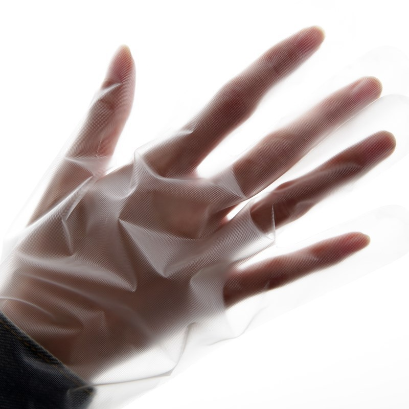 PE glove plastic gloves disposable transparent gloves
