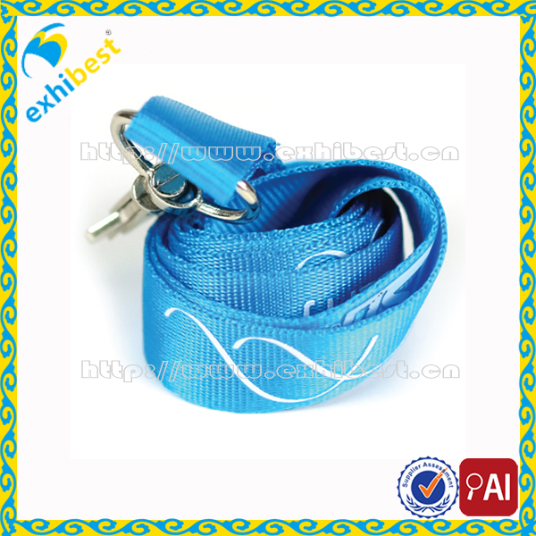 High quality Polyester or Nylon silkscreen printing custom logo lanyard