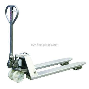 Stainless Steel SUS316 Hand Pallet Truck for Corrosion Resistant Application