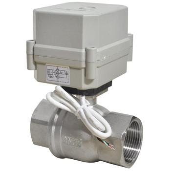 1-1/4''  A100-T series 2-way BSP/NPT stainless steel electric ball valve
