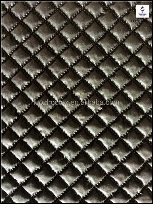 Ultrasonic Embossed Quilted Fabric for Home Textile