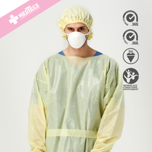 Yellow comfortable High quality Hospital Surgical Disposable Gown