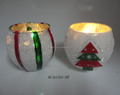 Electroplated ball shaped glass tealight candle holder Christmas decorations wholesale