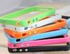 Phone 5 5g Rim Bumper, case, cover with Chrome Buttons Dual Silicone
