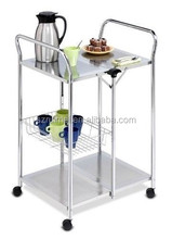 Kitchen Dining Bar Folding Table,Restaurant Cart Party Buffet Rack