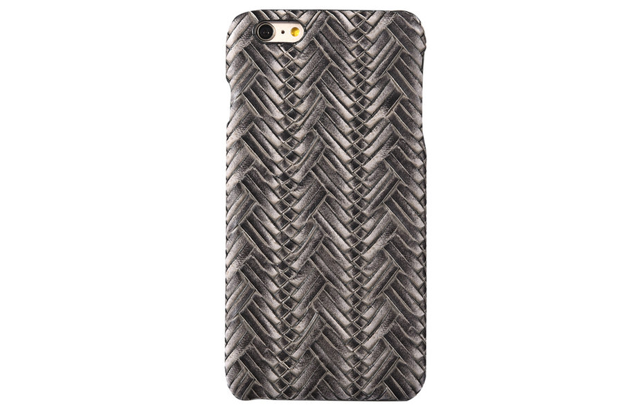 UJA For iPhone 6plus/6s plus 5.5 Fashion PU Leather Case Humanoid Weave Back Case MT-5077