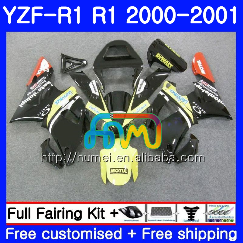 Bodywork For YAMAHA YZF 1000 YZF-<strong>R1</strong> 2000 2001 Body 98HM46 gloss black YZF1000 YZF R 1 YZFR1 <strong>00</strong> <strong>01</strong> YZF-1000 YZF <strong>R1</strong> <strong>00</strong> <strong>01</strong> Fairing